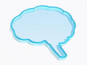 脳の形をしたガラス状の器のイラスト素材 [FYI04119692]