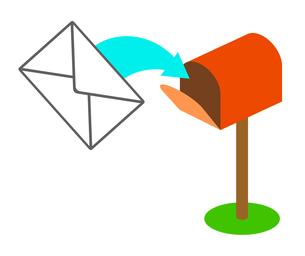 手紙を受信するポストのイラスト素材 [FYI04120184]
