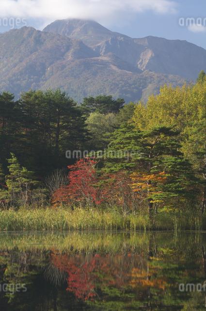 沼と磐梯山の写真素材 [FYI04120202]