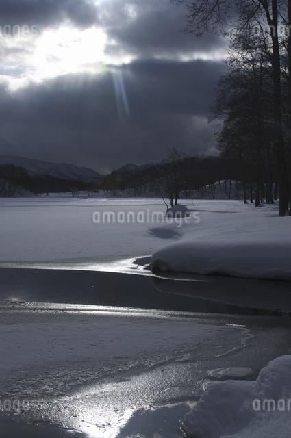 雪景色の写真素材 [FYI04120261]