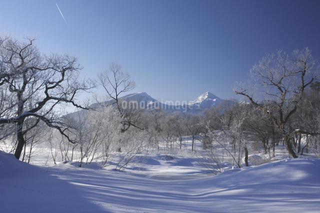 冬の磐梯山の写真素材 [FYI04120285]