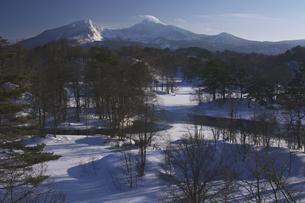 中瀬沼と磐梯山の写真素材 [FYI04120301]