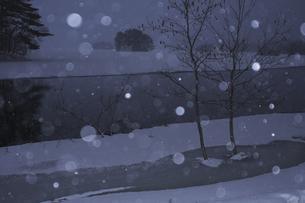 雪が舞うの写真素材 [FYI04120318]
