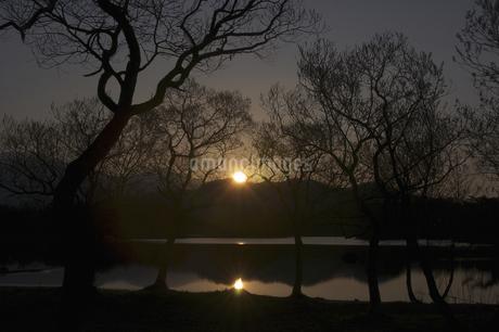 小野川湖の朝の写真素材 [FYI04120344]
