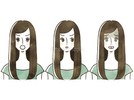 女性-表情のイラスト素材 [FYI04120521]