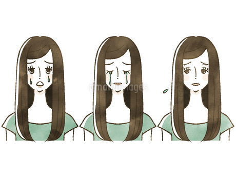女性-表情のイラスト素材 [FYI04120524]