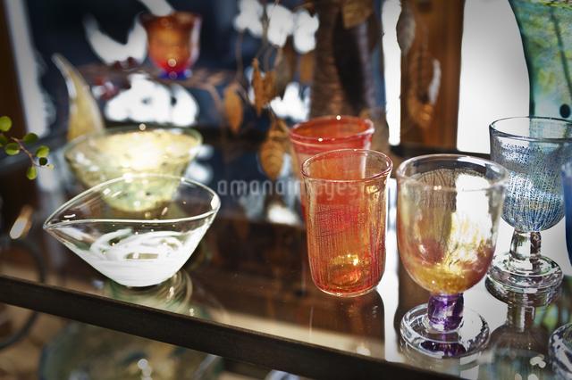 吹きガラスのグラスの写真素材 [FYI04120592]