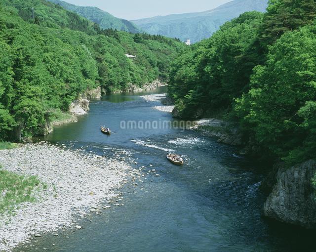鬼怒川ライン下りの写真素材 [FYI04120844]