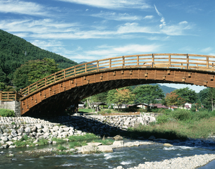 木曽の大橋の写真素材 [FYI04120963]