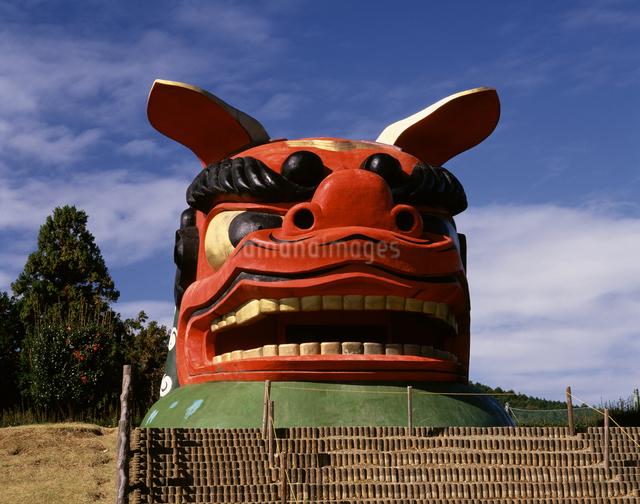 日本一の獅子頭の写真素材 [FYI04120983]