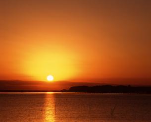 夕陽の写真素材 [FYI04121124]