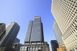 高層ビル街の写真素材 [FYI04122695]
