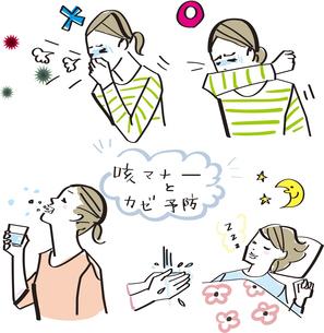 咳マナー 風邪予防のイラスト素材 [FYI04123123]