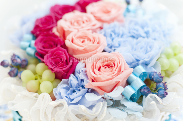お花のケーキの写真素材 [FYI04124498]