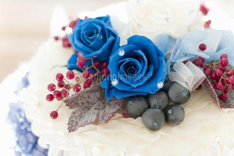 お花のケーキの写真素材 [FYI04124504]