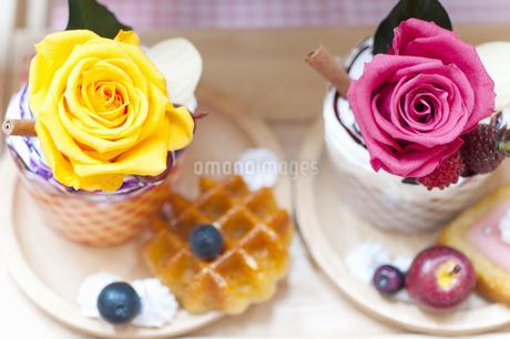 お花のケーキの写真素材 [FYI04124510]