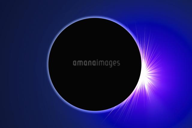 皆既日食イメージの写真素材 [FYI04126489]