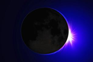皆既日食イメージの写真素材 [FYI04126490]