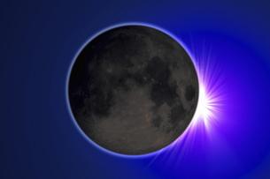皆既日食イメージの写真素材 [FYI04126491]