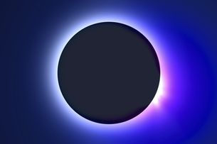 皆既日食イメージの写真素材 [FYI04126492]