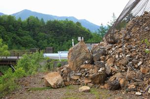 崖の崩落の写真素材 [FYI04126813]