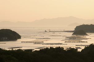 夕暮れの英虞湾の写真素材 [FYI04127806]