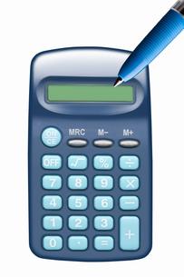 ボールペンと電卓の写真素材 [FYI04128088]