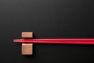 箸と箸置きの写真素材 [FYI04128375]