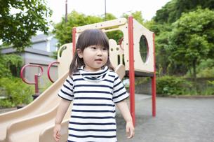 公園で遊ぶ女の子の写真素材 [FYI04128615]