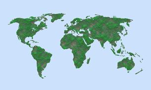 世界地図のイラスト素材 [FYI04129725]