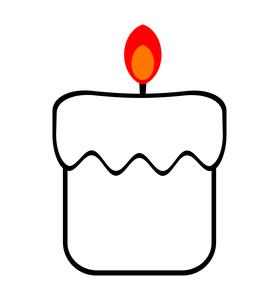 火の灯ったロウソクのイラスト素材 [FYI04130682]