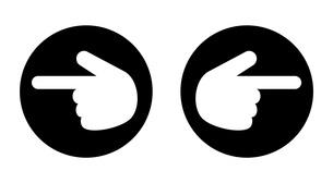 左右の指アイコンのイラスト素材 [FYI04130686]