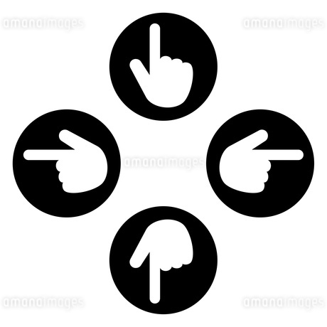 十字の指アイコンのイラスト素材 [FYI04130687]
