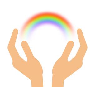 手の上の虹のイラスト素材 [FYI04130688]