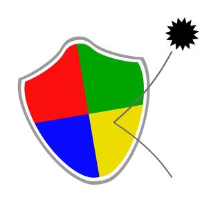 ウイルスを跳ね返す盾のイラスト素材 [FYI04130763]