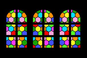 ステンドグラスのイラスト素材 [FYI04130917]