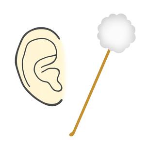 耳掻きと耳のイラスト素材 [FYI04130919]