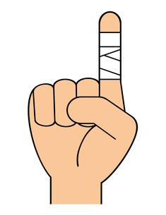 包帯を巻いた指のイラスト素材 [FYI04130924]
