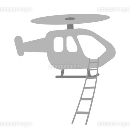 縄梯子を降ろすヘリコプターのイラスト素材 [FYI04130984]