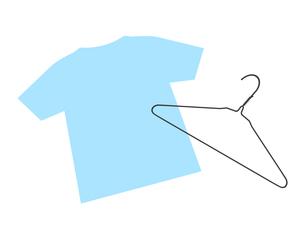 ハンガーとTシャツのイラスト素材 [FYI04130988]