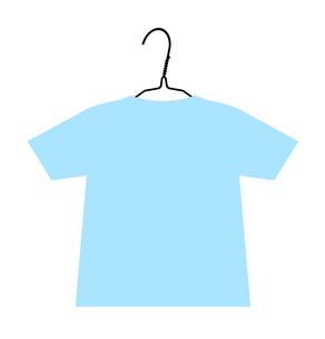 ハンガーに掛かるTシャツのイラスト素材 [FYI04130989]