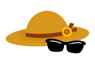 麦藁帽子とサングラスのイラスト素材 [FYI04131043]