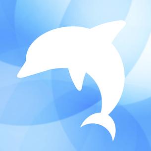 イルカのシルエットのイラスト素材 [FYI04131044]