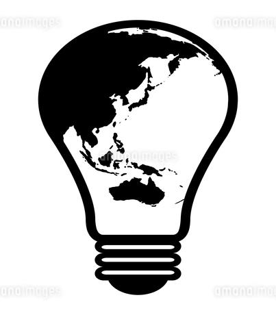 地球柄の電球のイラスト素材 [FYI04131098]