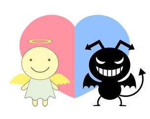 天使と悪魔のイラスト素材 [FYI04131099]