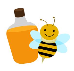 ミツバチとハチミツのイラスト素材 [FYI04131102]