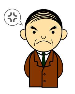 怒っている中年男性のイラスト素材 [FYI04131107]