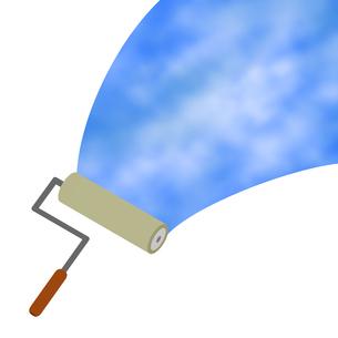ローラーで描く空のイラスト素材 [FYI04131182]
