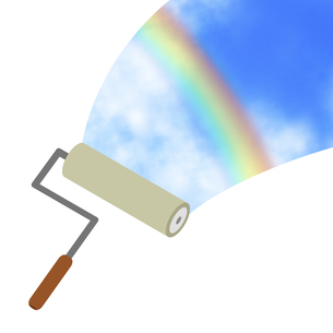 ローラーで描く空のイラスト素材 [FYI04131183]