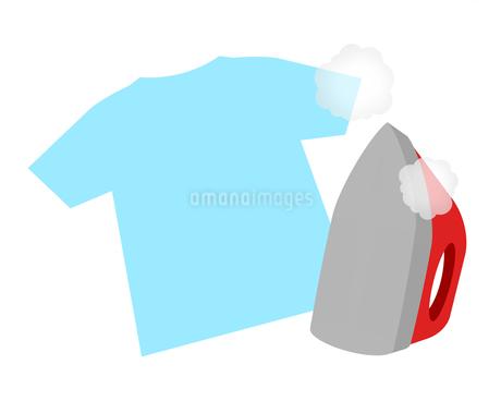 アイロンとTシャツのイラスト素材 [FYI04131240]